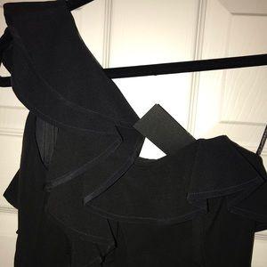 One shoulder Black Halo little black dress